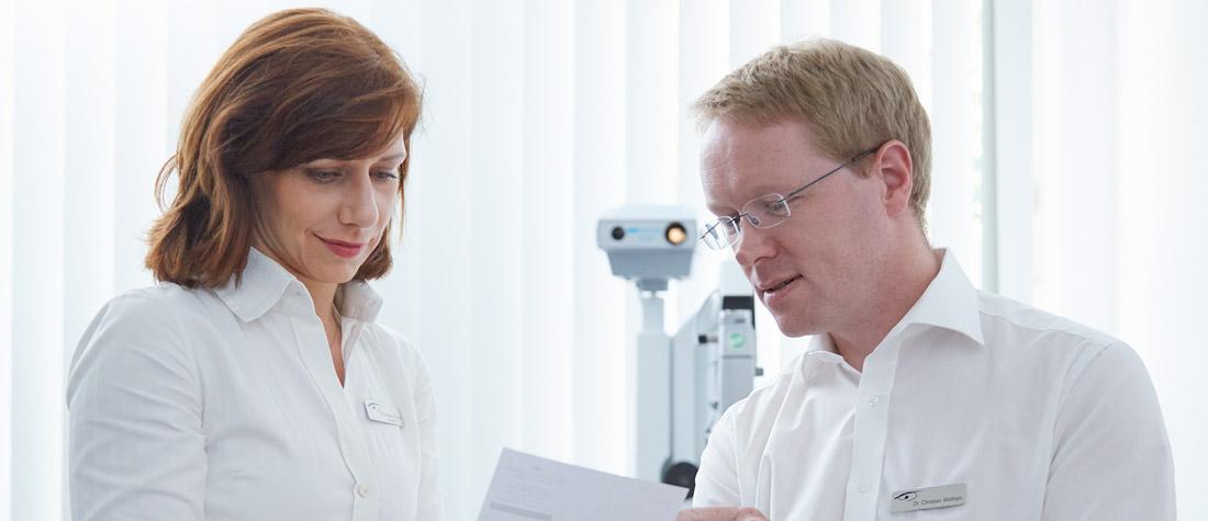 Erkrankungen - Augenarztpraxis Blankenese, Hamburg // Augenärztliche Praxisklinik Am Tierpark, Hamburg